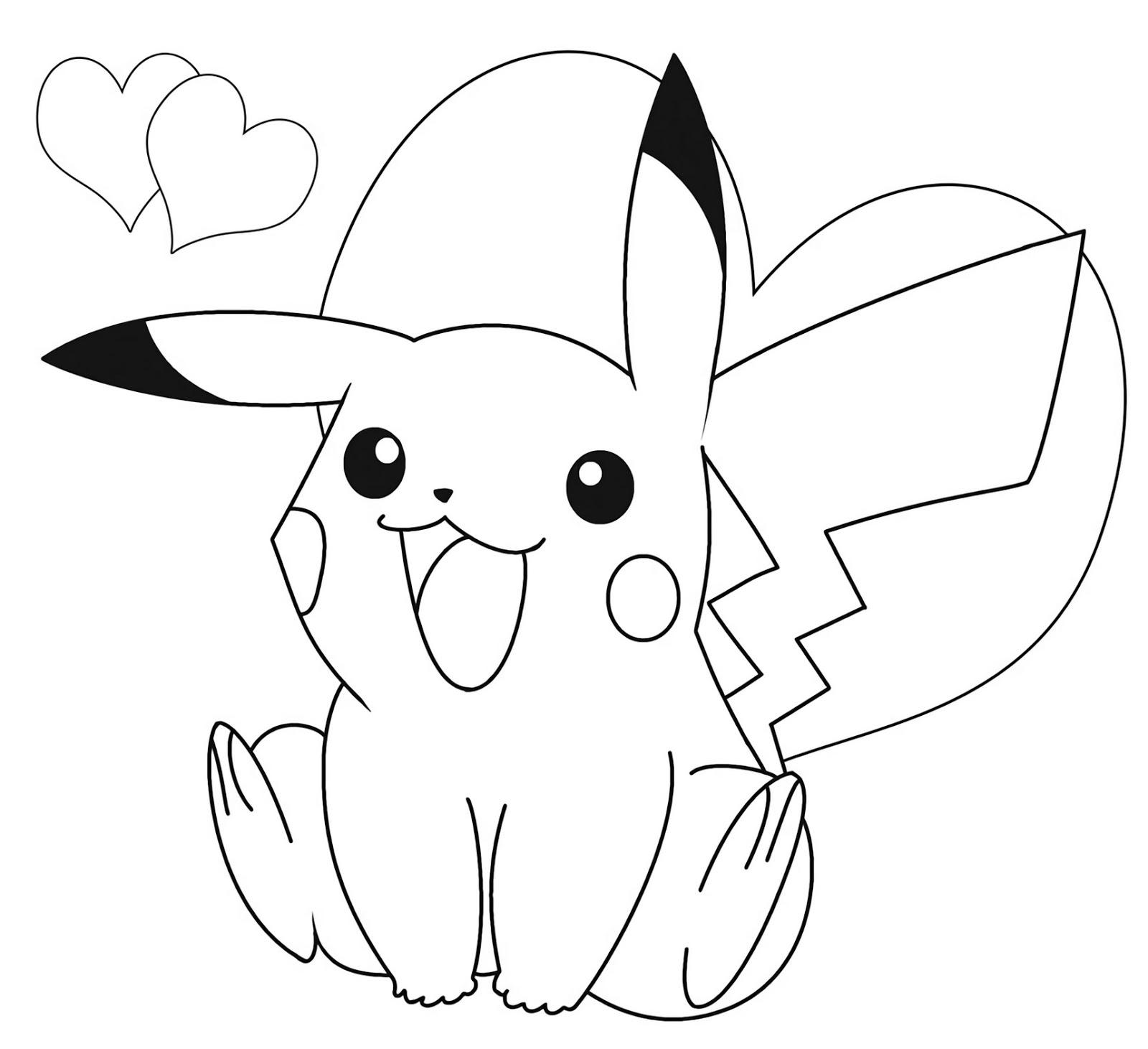 cute love pokemon go pikachu coloring pictures easy to color - pokemon go pictures coloring pages