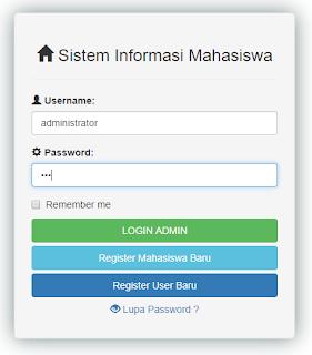 Contoh Sistem Informasi Mahasiswa dengan PHP (Login dan Registrasi)