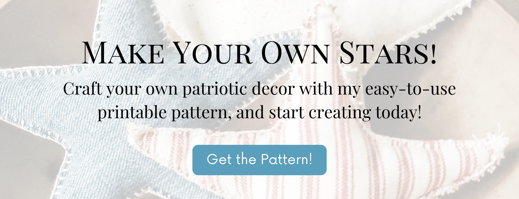 Free printable star pattern for a variety of farmhouse crafts