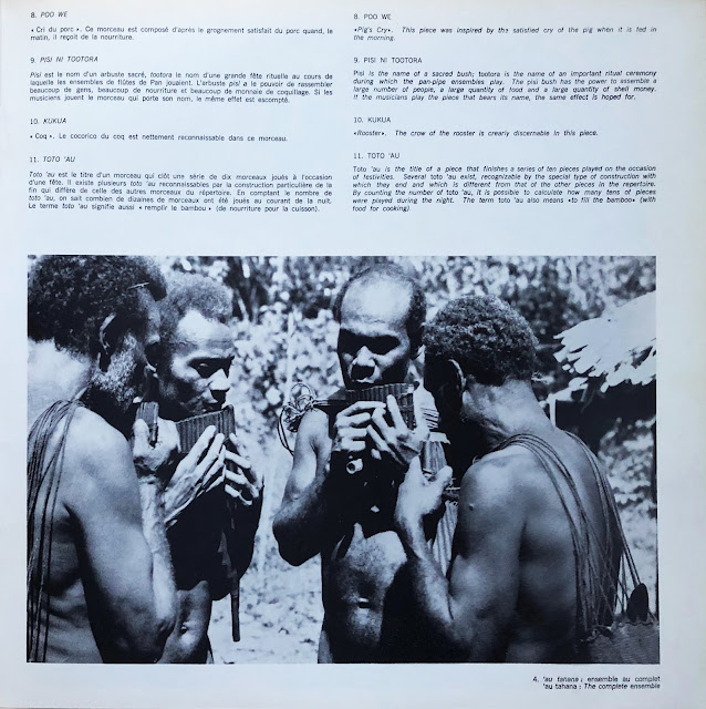 #Solomon Islands #Malaita #'Are'are #Hugo Zemp #pan-pipe #flute de pan #cult #ritual #ancestor #music #Traditional music #musique traditionnelle #world music #Oceania #Pacific #Océanie #ensemble #spirits #MusicRepublic #Vogue