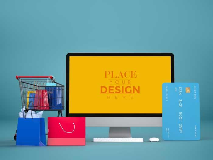 Online Shopping Mockup V-2