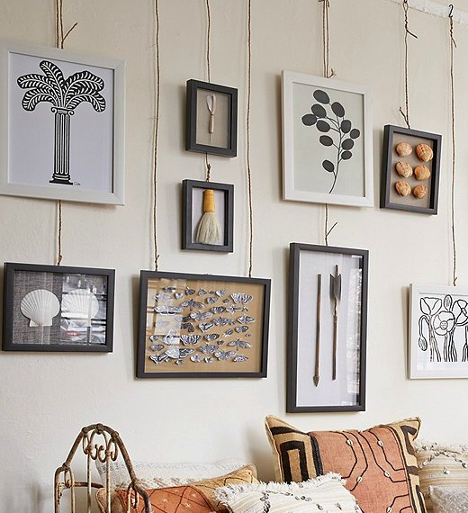 Easy Hanging Wall Art Idea | No Nails Required