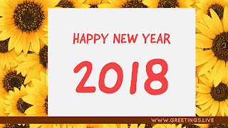 Colourful-sun-flowers-new-year 2018 wishes