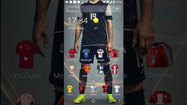 jersey soccer theme 1.1.4 for Android