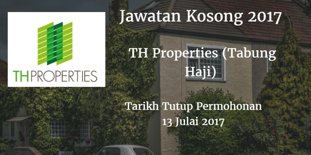 Jawatan Kosong TH Properties (Tabung Haji) 13 Julai 2017
