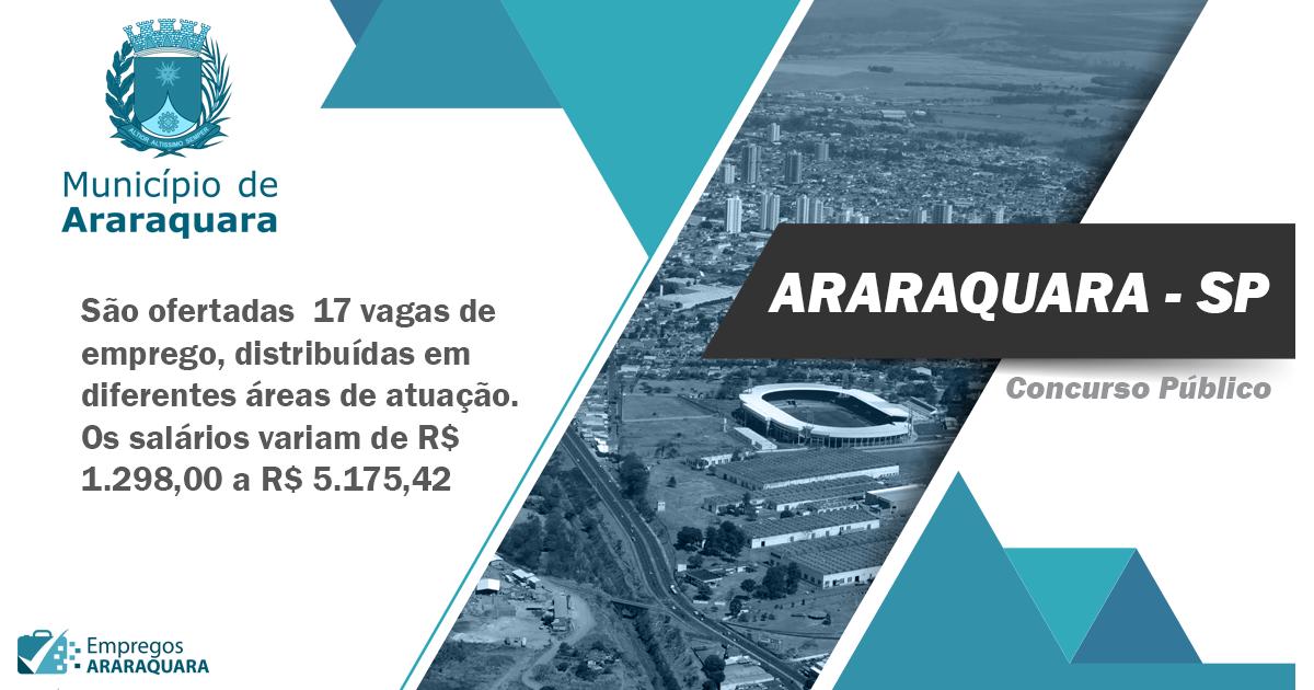 Concurso Público Prefeitura de Araraquara: Edital 001/2020