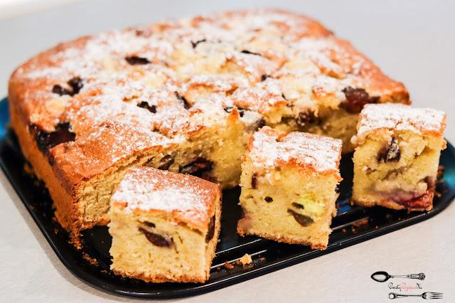 ciasta i desery, ciasto z owocami, szybkie ciasto, proste ciasto z owocami, ciasto z owocami sezonowymi, łatwe ciasto,