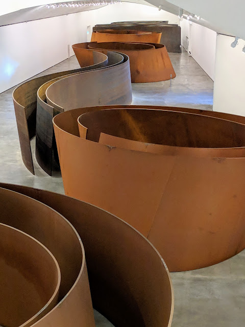 What to see in Bilbao in December: The Matter of Time sculpture by Richard Serra