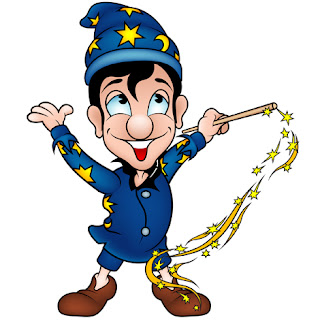 Clipart image of a wizard