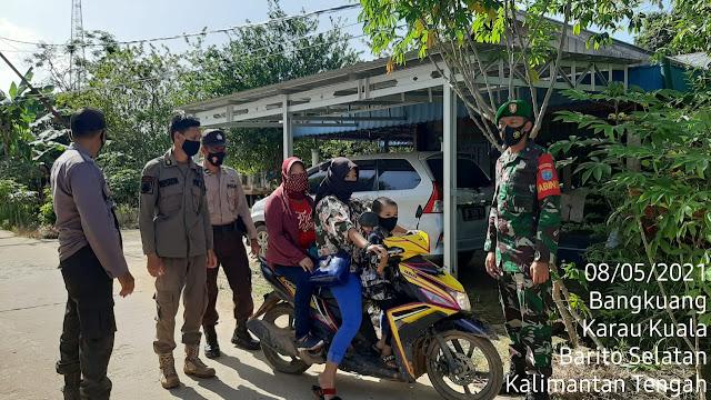 Pendisiplinan Prokes, Satgas Operasi Yustisi Karau Kuala Ajak Warga Pakai Masker