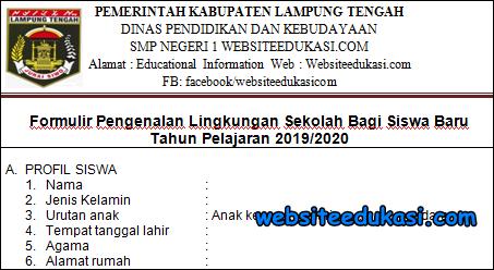 Formulir MPLS / PLS Tahun 2019-2020