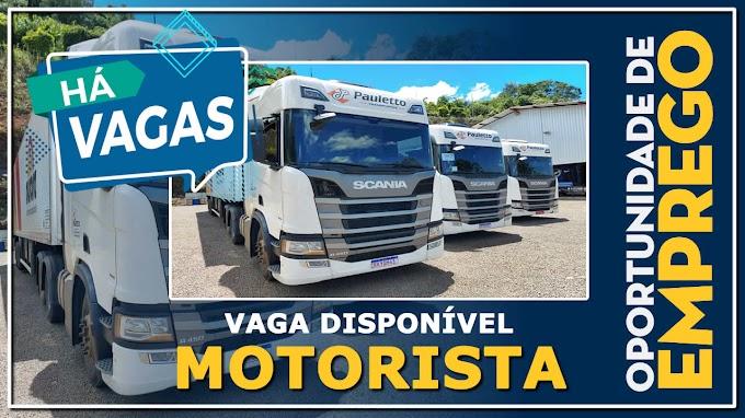 Pauletto Transportes abre vagas para Motorista Carreteiro