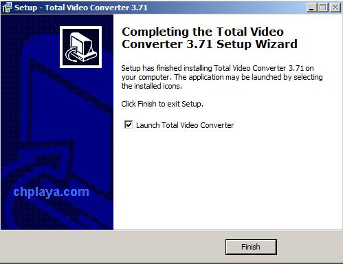 Hướng dẫn cài đặt Total Video Converter 3.71 Full Key + Active trên máy tính, laptop windows 7 g1