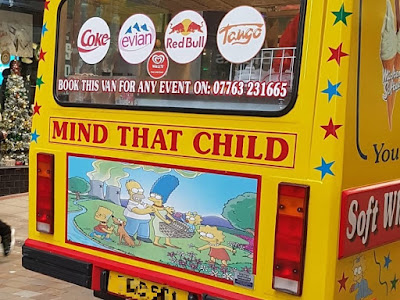 Mr Bling's Simpson-themed Ice Cream Van in Leeds