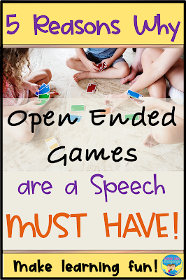 Open ended games are a therapy must have!