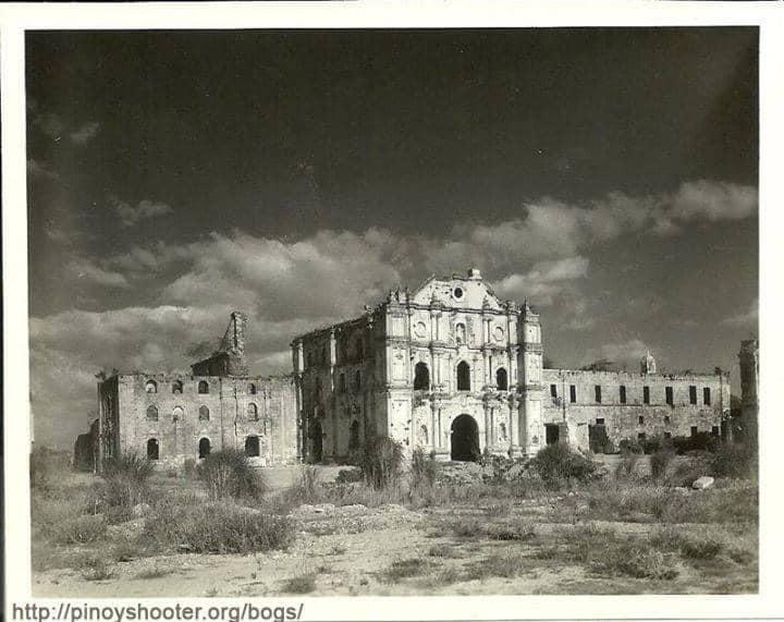 The shell was mostly intact The Santuario de San Antonio de Padua in Intramuros, Manila