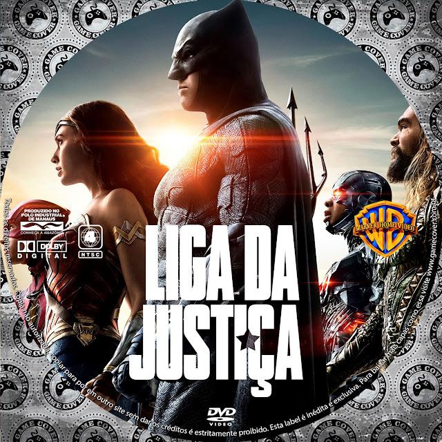 Label DVD Liga Da Justiça (2017) [Exclusiva]