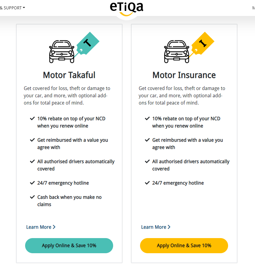 Etiqa Insurance – Renew Insurans Kenderaan Online Jimat 10% NCD