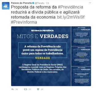 Planalto Twitter
