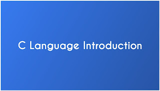 Introduction of C language