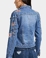 Jeansowa kurtka z eplikacjami