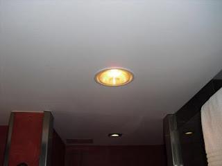 đèn sưởi 1 bóng âm trần hồng ngoại phòng ngủ