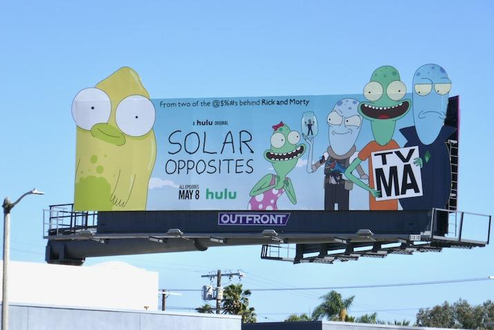 Solar Opposites series premiere billboard