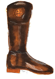 Sprinkle On Glitter Blog// Sketchworthy Reads- Southern Curls& Pearls// Tory Burch Riding Boots