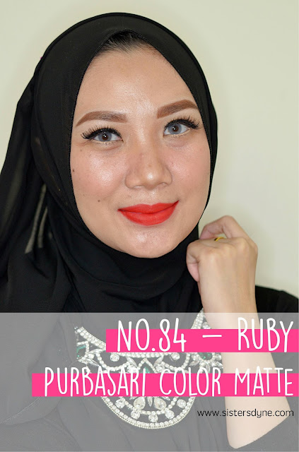 purbasari lipstick color matte 84 ruby