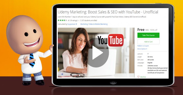 [100% Off] Udemy Marketing: Boost Sales & SEO with YouTube - Unofficial Worth 95$