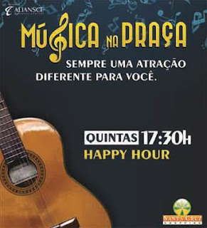 Santa Cruz Shopping promove happy hour gratuito com o músico Carlão