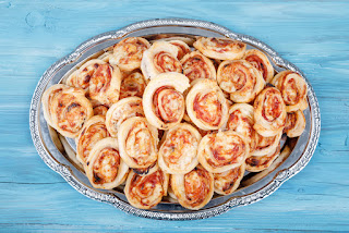 puff pastry swirls savoury party food nibbles children party food pizza bites