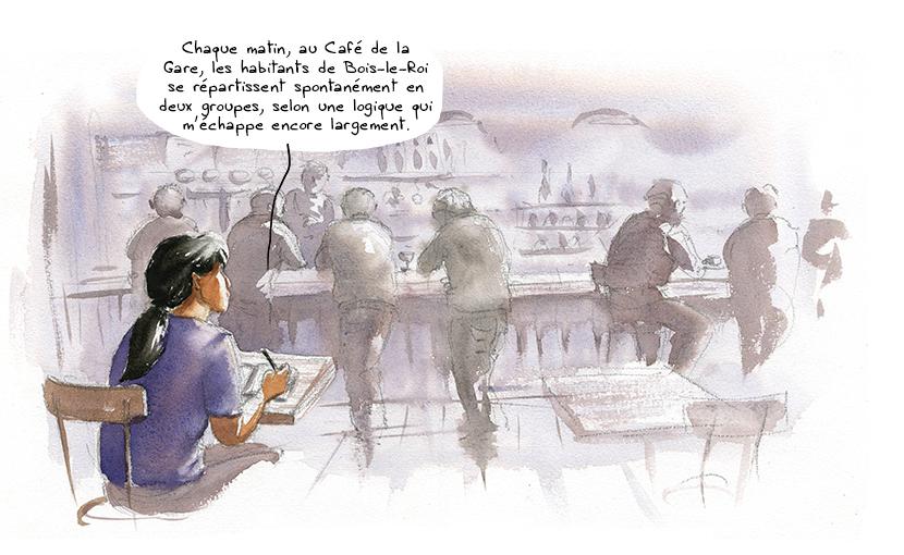 anthropologue jivaro achuar au café de la gare de bois le roi