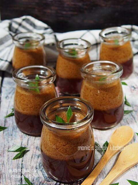 resep puding santan gula merah