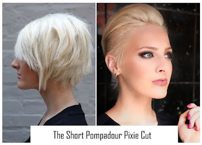 short pixie pompadour haircut