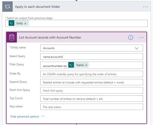 8. List Account records with Account Number