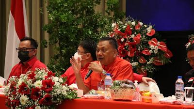 Rakercab PDIP Manado, Olly Dondokambey: Struktur Partai Harus Berfungsi dan Memperjuangkan Kepentingan Rakyat
