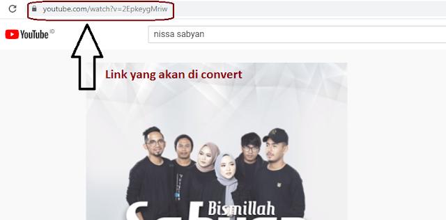 link youtube yang akan di convert