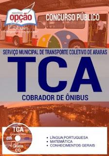 Apostila TCA Araras 2017 Cobrador de Ônibus