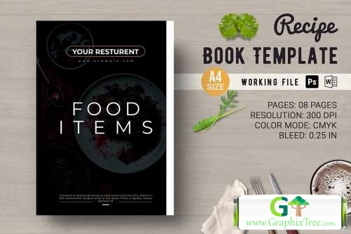 Recipe Book Template [Powerpoint] [Indesign & Powerpoint]