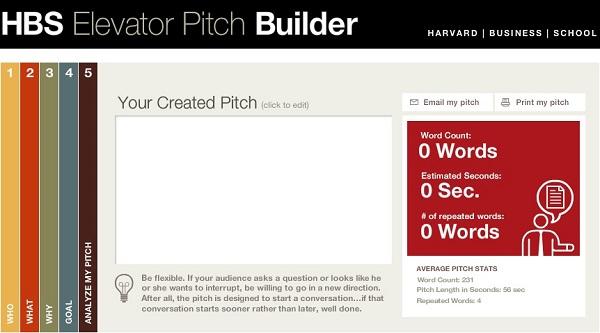 elevator pitch essay