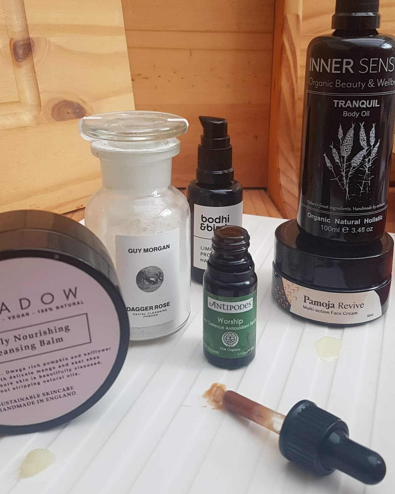 Green Beauty Favourites - Top Picks Spring 2020, Inner Senses Tranquil Body Oil, Bodhi & Birch Lime Blossom Hand Serum, Guy Morgan Dagger Rose Cleanser, Antipodes Worship Serum, Meadow Instant Hydration Body Balm