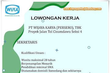 Lowongan Kerja Sekretaris PT Wijaya Karya