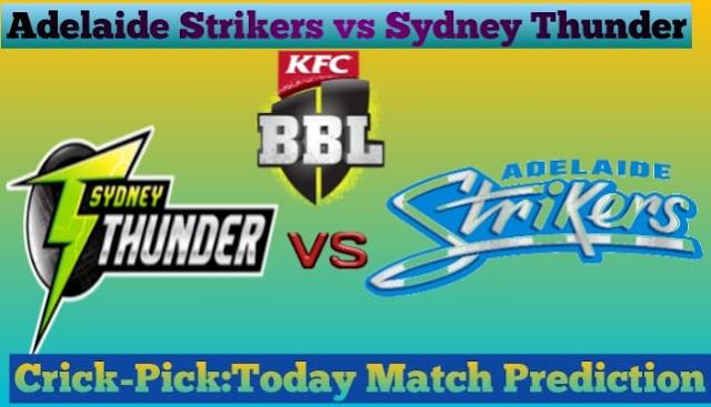 STR vs THU-Today Match Prediction-BBL 2020-Who Will Win