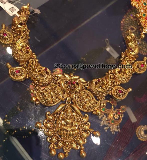 Nakshi Work Silver Necklace