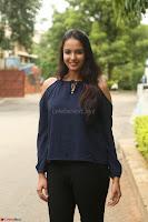 Poojita Super Cute Smile in Blue Top black Trousers at Darsakudu press meet ~ Celebrities Galleries 022.JPG