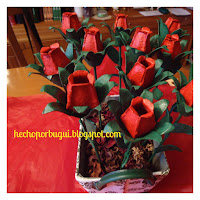 tulipano fai da te con cartone delle uova