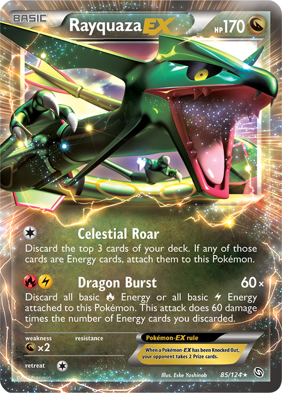 Rayquaza EX -- Dragons Exalted Pokemon Card Review ...