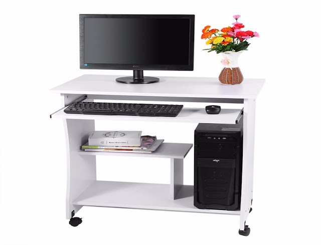 best buying cheap small office computer desk with wheels for sale online