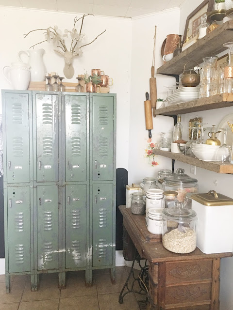 Lockers used in the kitchen as a pantry